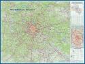 Купить! Настенная географическая карта Московской области