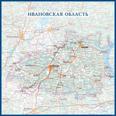 Настенная карта Ивановской